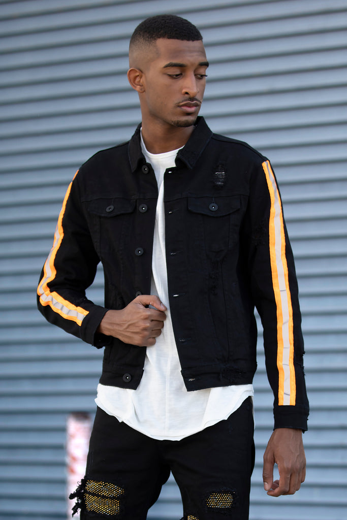 Reflective Taped Jacket (Black)