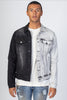 Contrast Denim Jacket (Black)