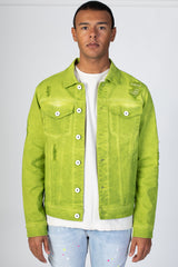 Colored Twill Jacket (Lime)