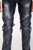 Slim Knee Patch Jeans (Indian Ink)