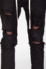 Destroyed Pants With Drawstring (Black)