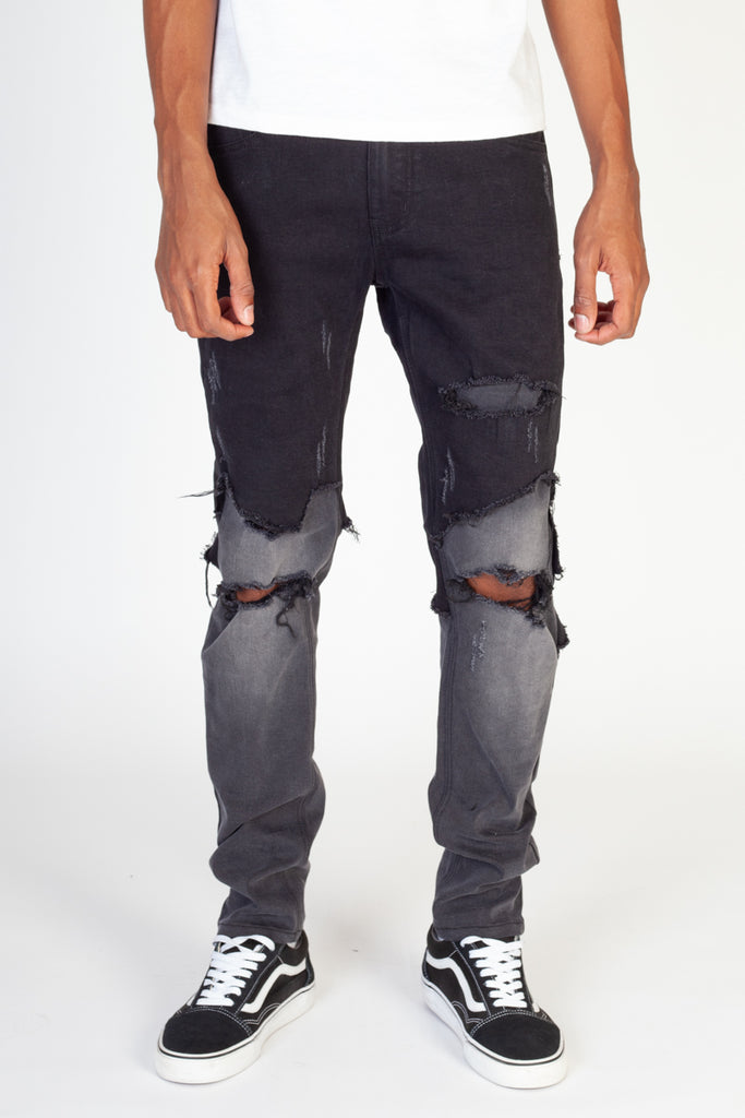 Double-Layer Jeans (Black)