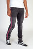 Neon Embroidered Jeans (Dark Medium Gray/Hot Pink)