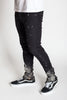 Super Skinny Paint Splashed Jeans (Black)