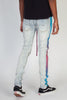 Tie-Dye Striped Jeans (Light Blue)