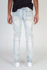 Side Stripe Printed Jeans (Light Blue)
