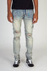 Destroyed Jeans With Multi Paint Splash (Vintage Medium Blue)