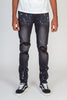Destroyed Jeans With Multi Paint Splash (Dark Medium Gray)