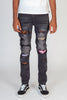 Multi-Patch Jeans (Dark Medium Gray)