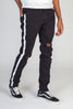 Side Stripe Printed Jeans (Black)