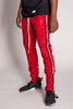 Techno Track Pants with Reflective Stripes (Red)
