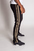 Gold Striped Ankle Zip Pants (Black)