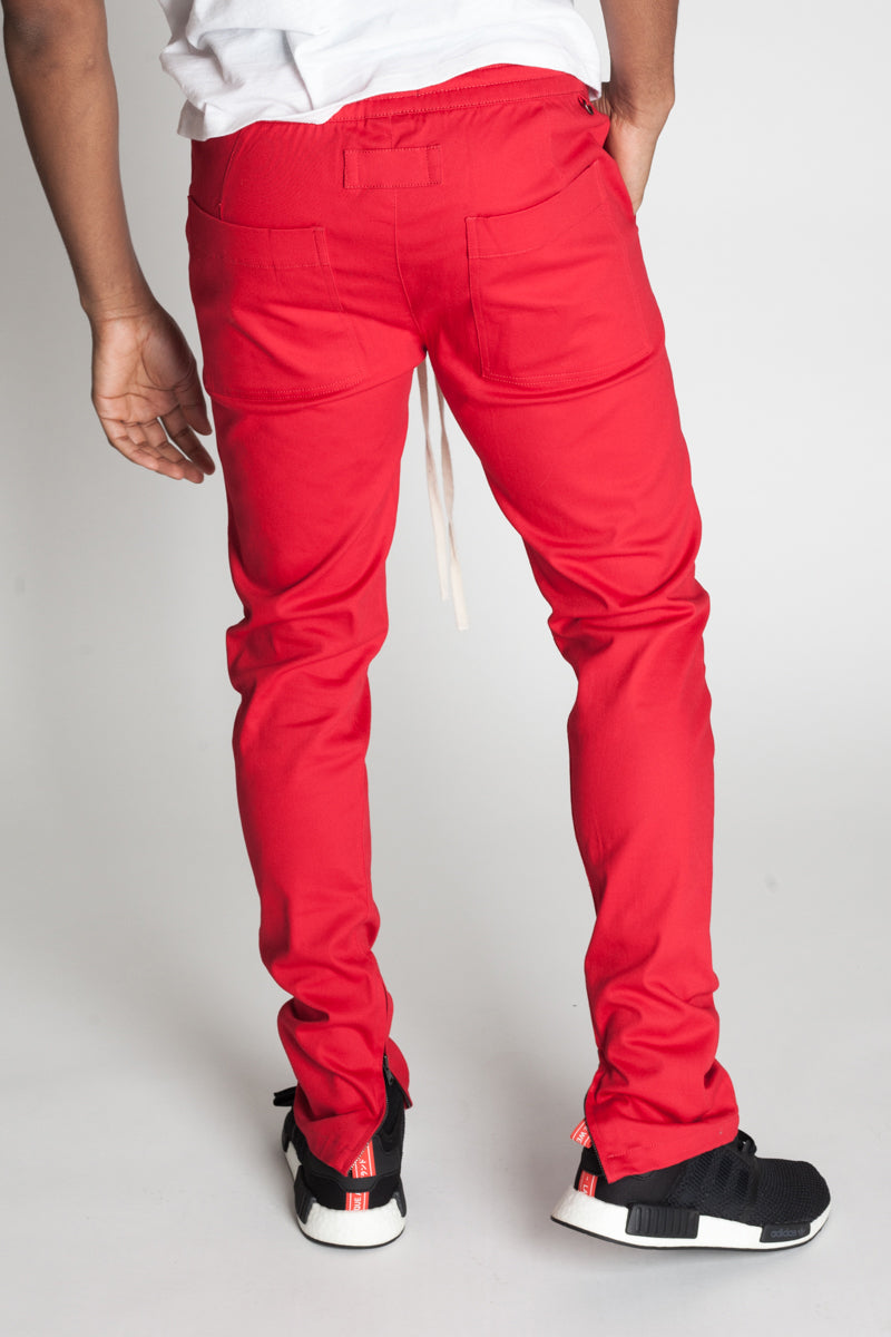 Ankle Zip Pants (Red)
