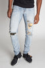 Destroyed Camo Patch Jeans (Vintage Lt. Blue)