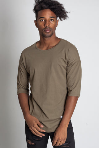 Drop Shoulder Scallop Tee