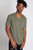 Raw Edge V-Neck Tee (Available in Other Colors)
