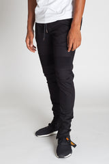 Ankle Zip Moto Pants (Black)