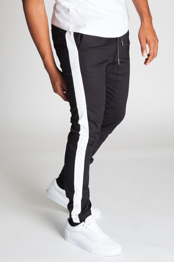 Striped Joggers (Black/White Stripes)