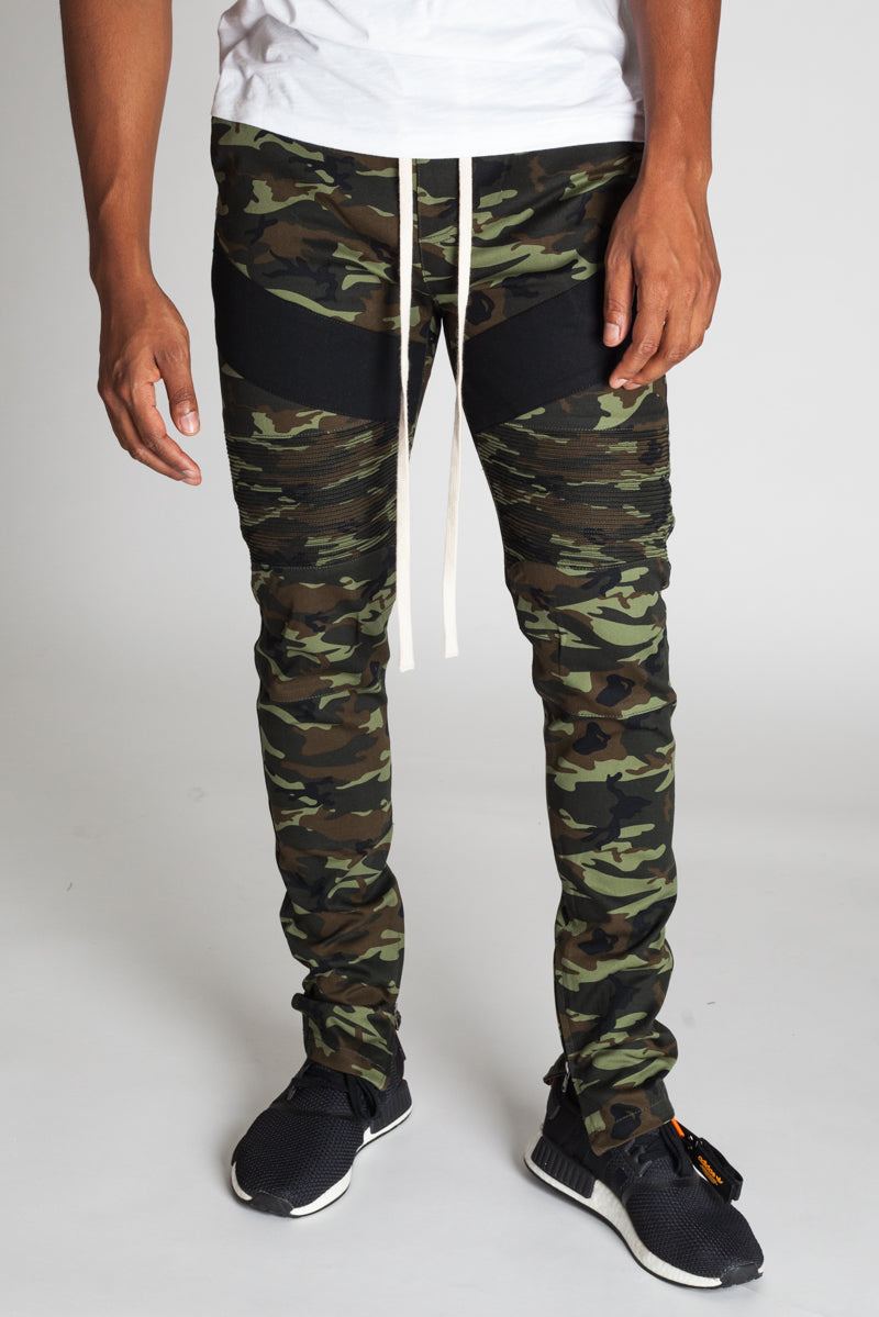 Camo Ankle Zip Pants (Olive)