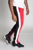 Vertical Color Block Track Pants (Red/Black/White)