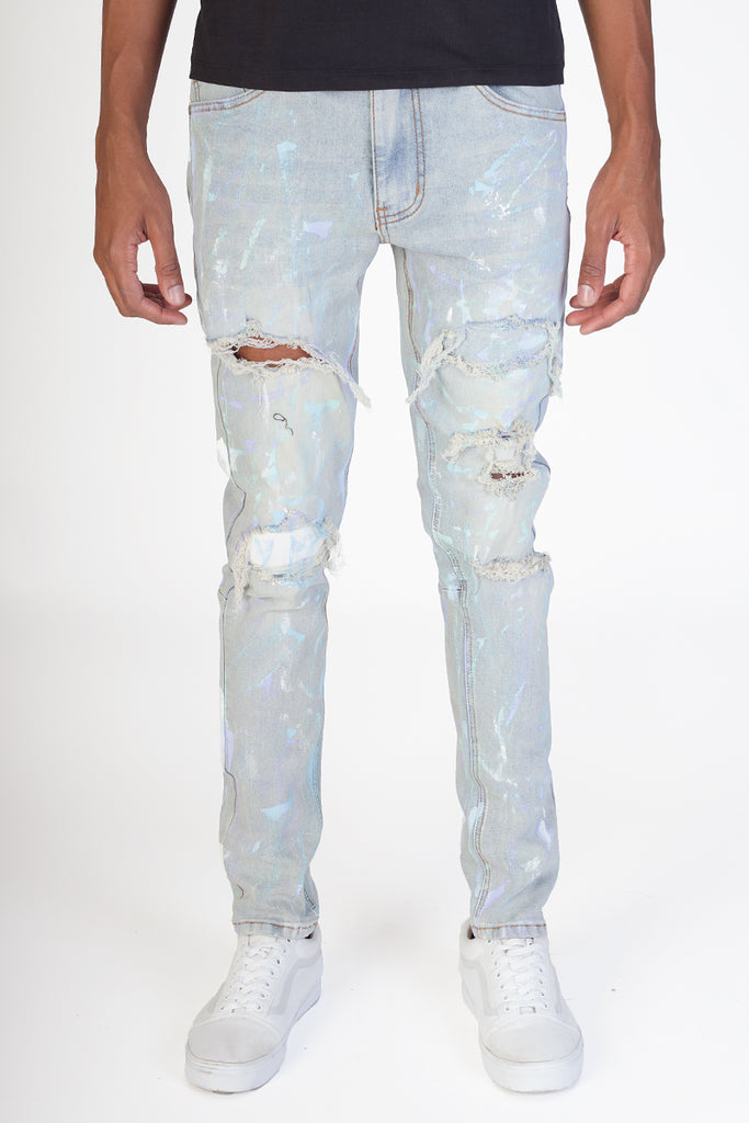 Pastel Painter's Jeans (Blue)