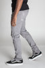 Distressed Ankle Zip Pants (Grey)