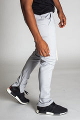 Ankle Zip Pants (Grey)