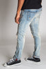 Inner Tape Destroyed Knee Slim Jeans (Medium Vintage Blue)