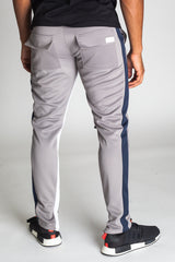 Striped Scuba Track Pants (Grey)