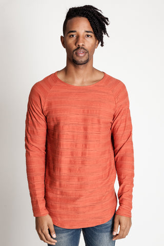 Raglan Long Sleeve Tee (Rust)