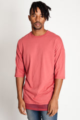 Drop Shoulder Tee with Mesh