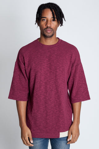 Colorblocked Tee (Burgandy)