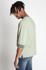 Sweatshirt w/ Contrast Decorative Rib