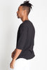 Drop Shoulder tee with Scallop Hem
