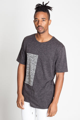 Short Sleeve Asymmetrical Panel Tee