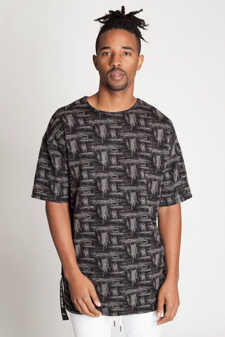 Shirred Tape Tee (Black)