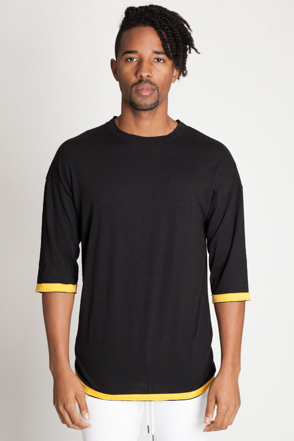 Cut Edge Drop Shoulder Tee