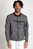 Printed Bomber Jacket (Black)