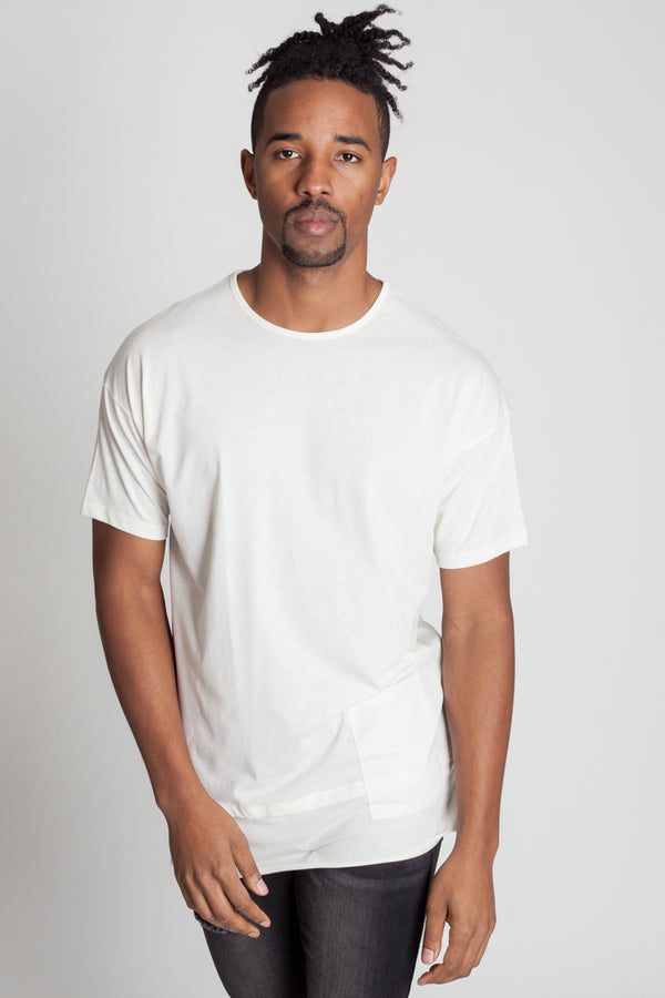 Colorblocked Crew Neck Tee