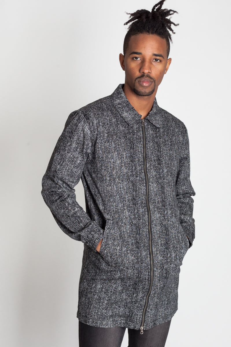 Longline Coach's Jacket (Black)