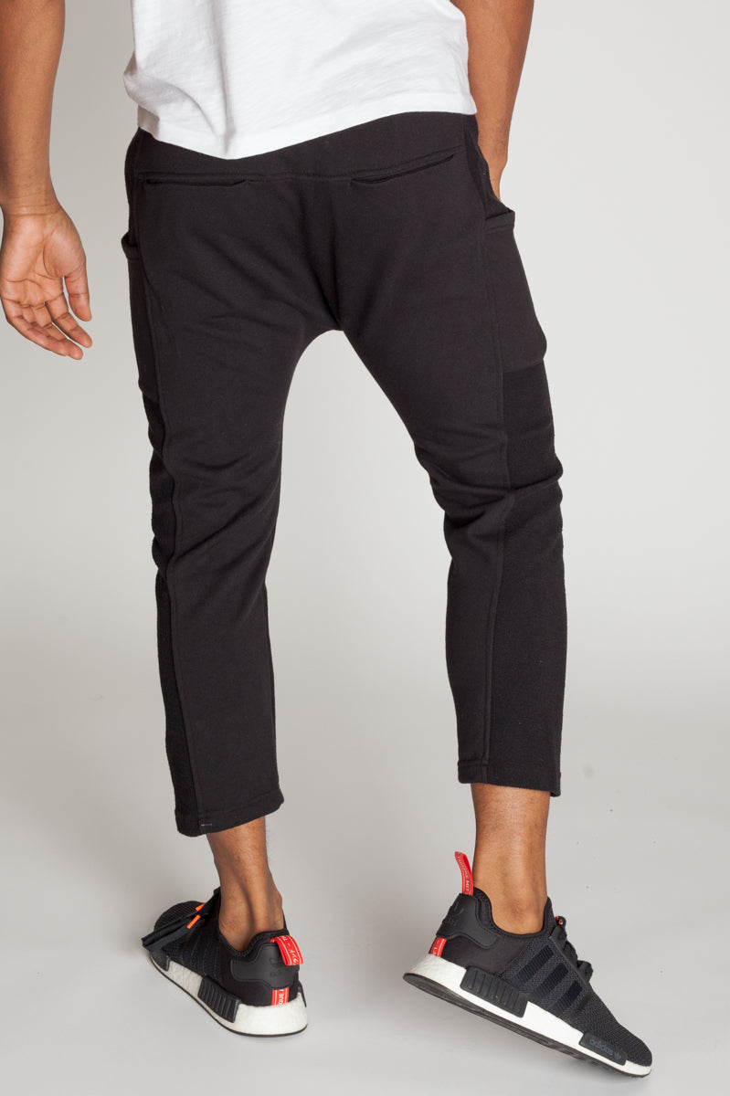 Cropped Slouchy Sweats (Black)