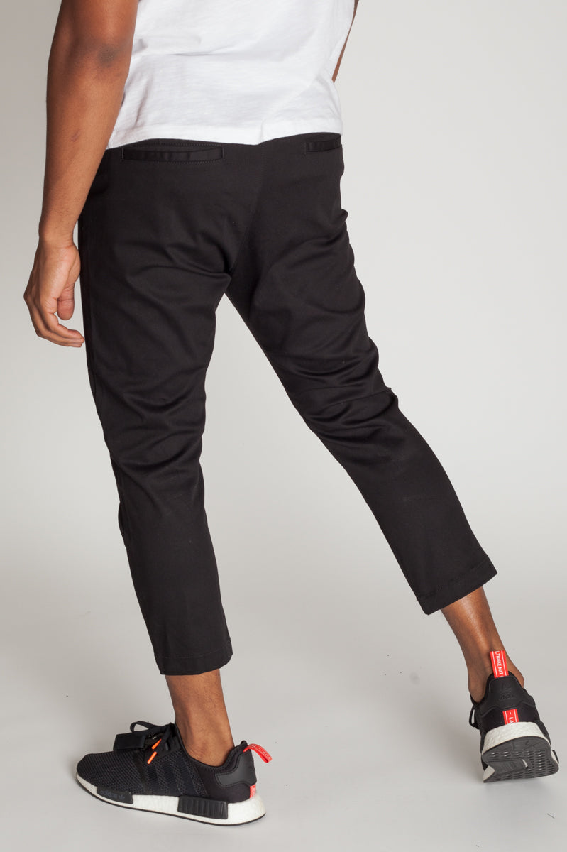 Cropped Highwater Chinos (Black)