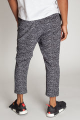 Printed Slouchy Sweats (Black)