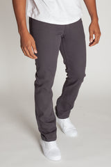 Slim Fit Twill 5-Pocket Pants (Charcoal)
