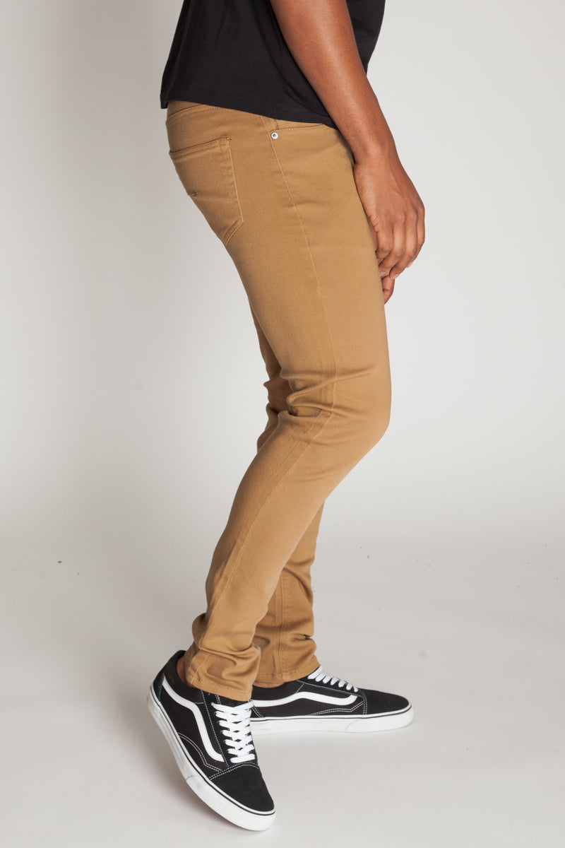 5-Pocket Skinny Twill Pants (Wheat)