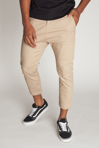 Cropped Highwater Chinos (Khaki)