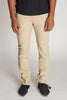 Slim Fit Twill 5-Pocket Pants (Khaki)