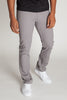 Slim Fit Twill 5-Pocket Pants (Light Gray)