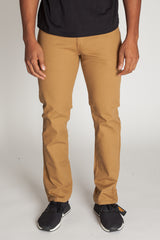 Slim Fit Twill 5-Pocket Pants (Wheat)