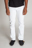 Slim Fit Twill 5-Pocket Pants (White)